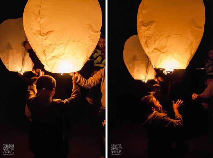 Lâcher de lanternes celestes à Utah Beach 2014