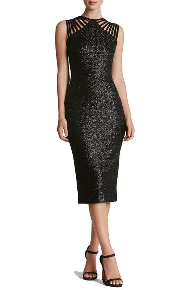 Dress the Population Gwen Sequin Midi Dress available at #Nordstrom