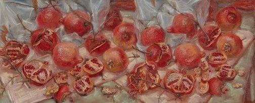 """Scribble Rock Pomegranates"" (1999) by Janet Dawson via AGNSW."