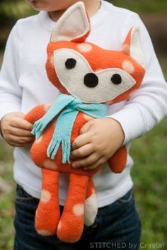 Free Stuffed Fox Pattern  #sew #stuffed #animal