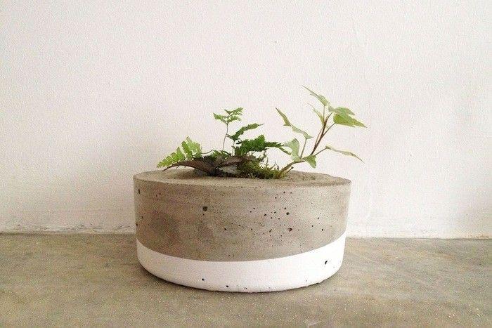 Tasi Masi Dipped Concrete Planter Gardenista