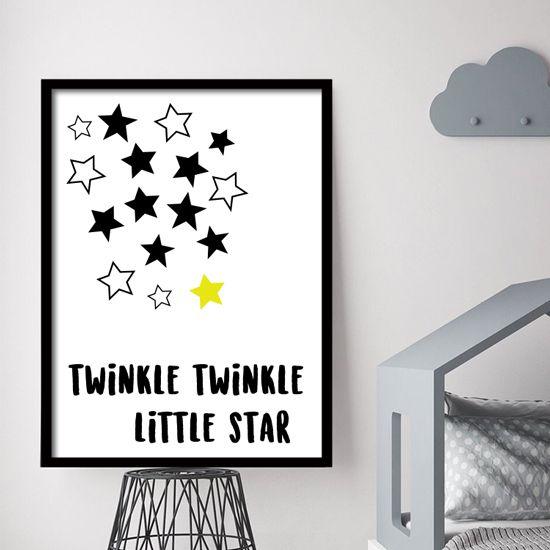 Αφίσα με αστέρια και κείμενο. Βάλτε αστέρια στο παιδικό δωμάτιο, ταιριάζουν σε κάθε εποχή!