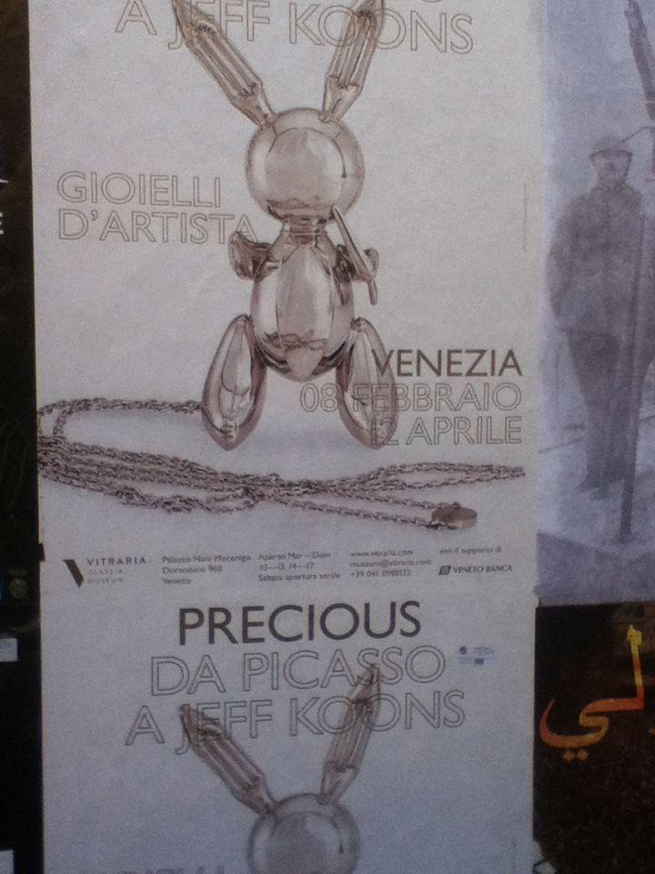 Cartaz de rua - Jeff Koons - Veneza