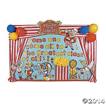 Carnival Bulletin Board Idea- Use with circus unit and Candace Fleming's P. T. Barnum biography