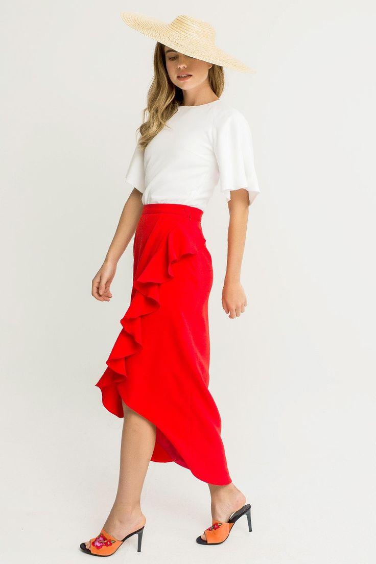 comprar online faldas de fiesta midi asimetricas para invitada de boda bautizo comunion eventos fiesta cena de empresa graduacion de apparentia collection shoponline