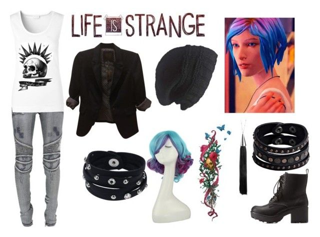 """Chloe Price- Life is Strange"" by megnut101 ❤ liked on Polyvore featuring Eddie Borgo, Balmain, The Limited, Charlotte Russe, ESCADA, Laundromat and Replay"