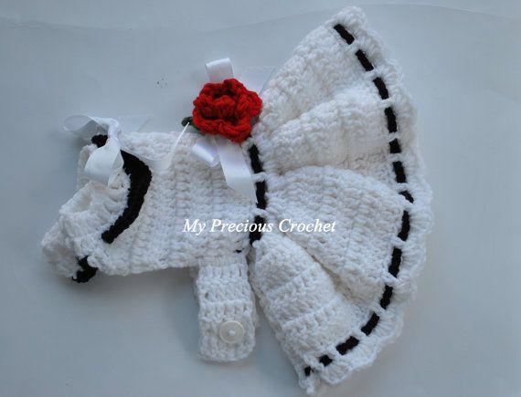 Elegance Dog Dress/Valentine/handmade/Crcochet
