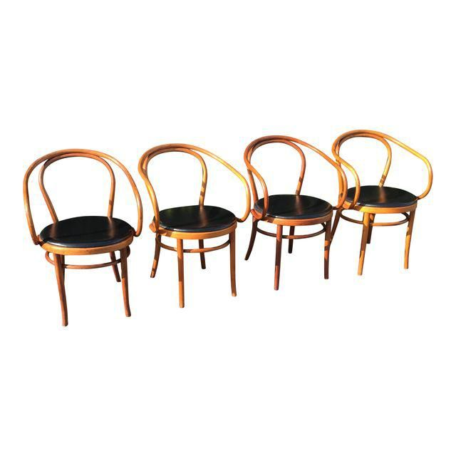 Image Of Vintage Thonet B9 Bentwood Chairs   Set Of 4