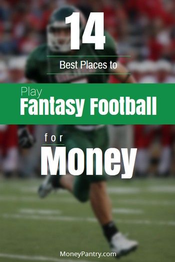 This is how you make money playing in fantasy football leagues...