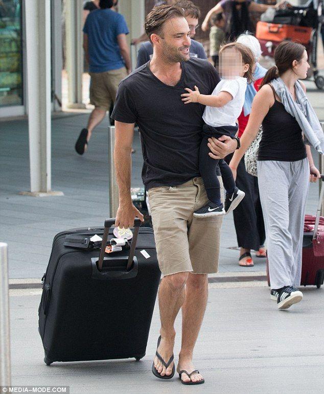 Matt Le Nevez and his son Levi