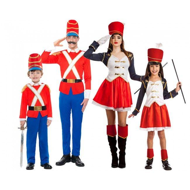 Groupe Soldats de Plomb et Majorettes #familledéguisement #déguisementsgroupes #nouveauté2017