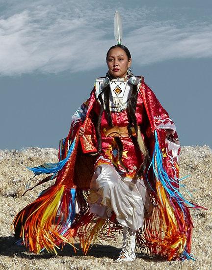 Shawl dancer by Linda Sparks