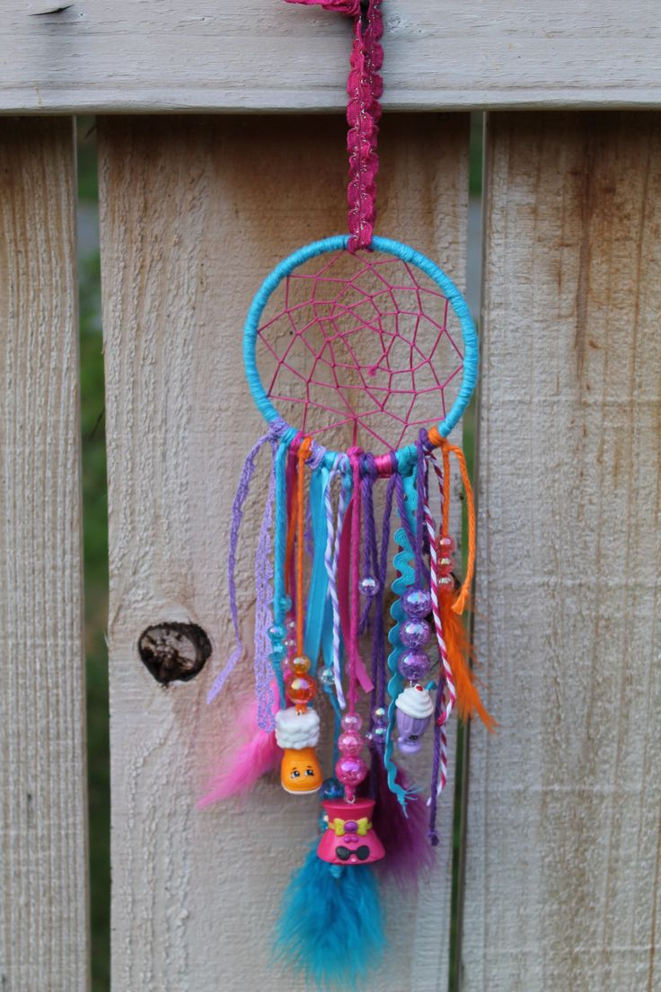 Shopkins dream catcher, shopkins room decor, shopkins decoration, dream catcher, kids room, shopkins, colorful dream catcher by Bowtiquefun on Etsy