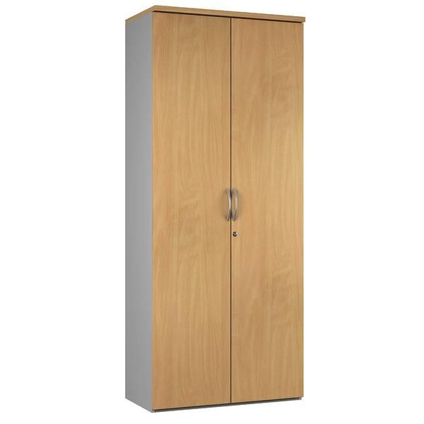 Classic Office Storage Cupboard available in 4 traditional Sylvan woodgrain colours - Free Next Working Day — Kit Out My Office