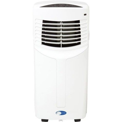 Whynter - Eco-friendly 8000 BTU Portable Air Conditioner - White - Larger Front