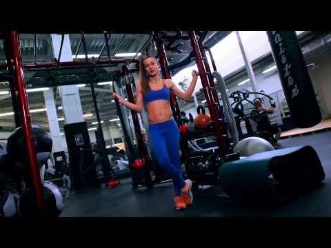 Круговая тренировка от очаровательной Евы на все группы мышц - эффективное жиросжигание и тонус! - YouTube