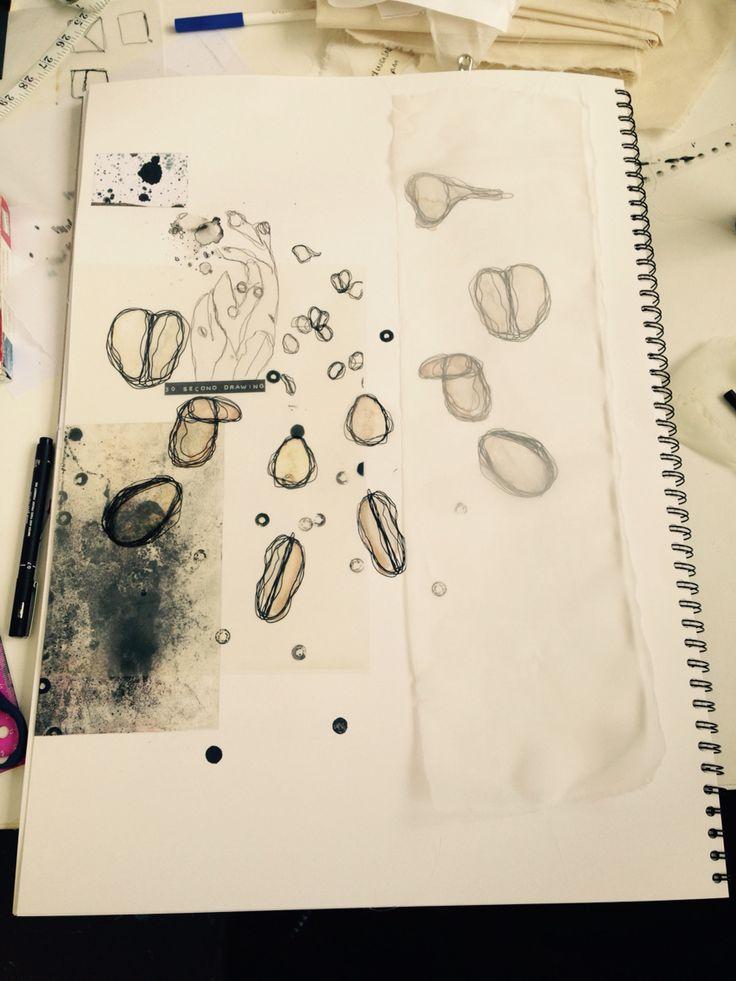 Textile and surface design development sketchbook