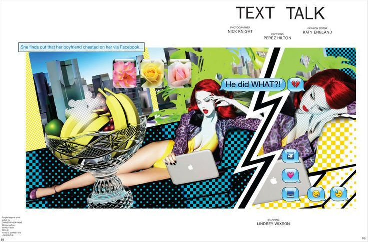 Text Talk | Lindsey Wixson | Nick Knight #photography | Katy England ( Editor ) | Garage Magazine Fall Winter 2012 #mixed_media #collage