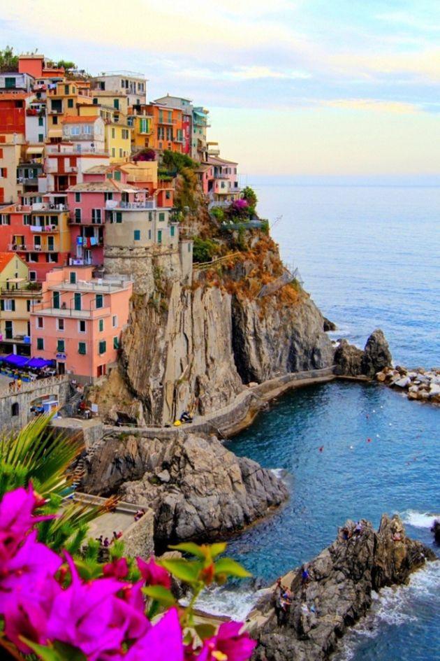 Cinque Terre, Italy (Five towns all in a row: Riomaggiore, Manarola, Corniglia, Monterosso and Vernazza)