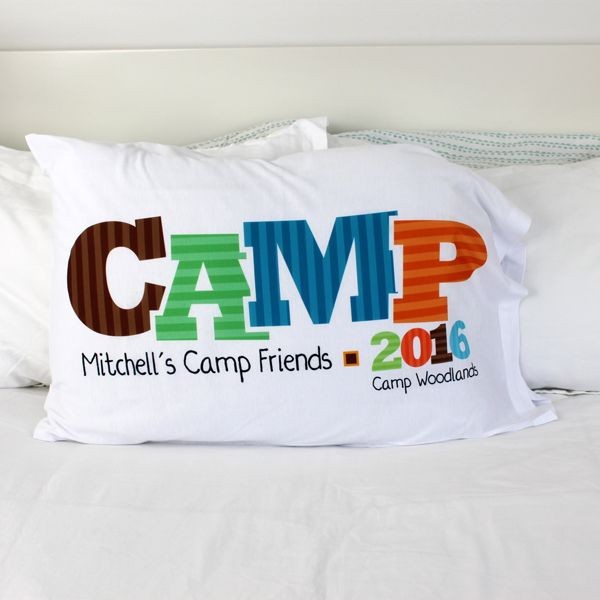 Kids going to sleep-away camp? Send them with an autograph pillow that's custom printed with their name and the name of their camp. At the end of the summer, they can have all their bunk mates sign their pillowcase.