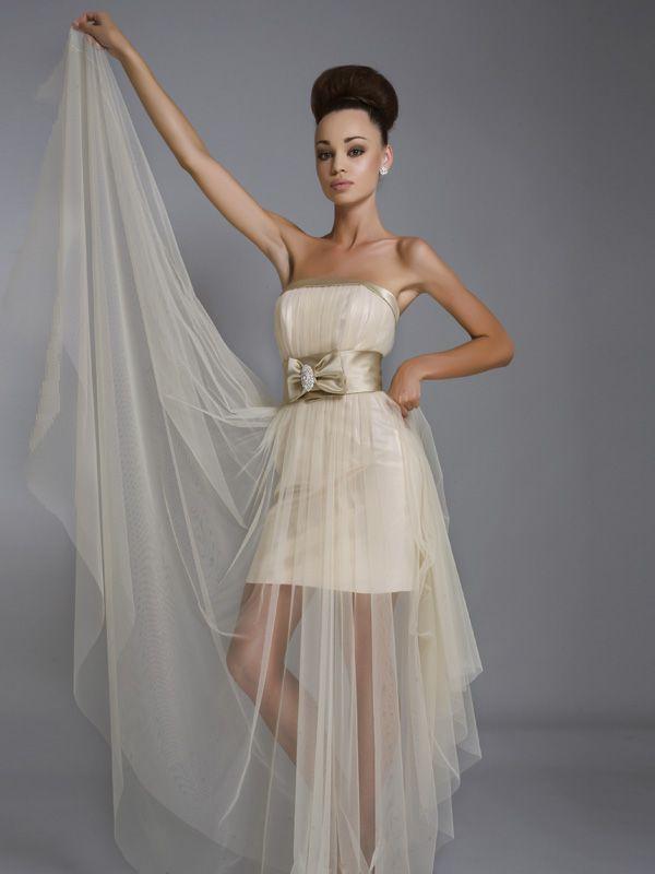 Короткие прозрачные свадебные платья