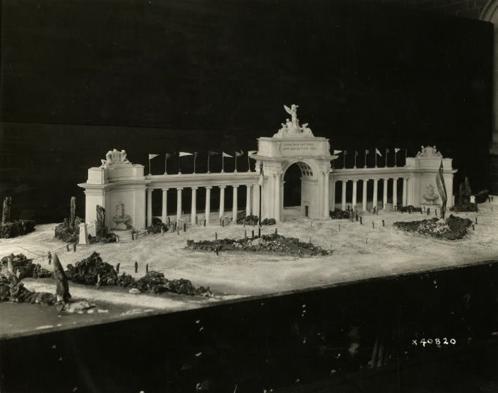 Heading to the Ex this weekend? You will probably pass through the Princes' Gates on your way in. Here is a photograph of the original model of the gates from 1926