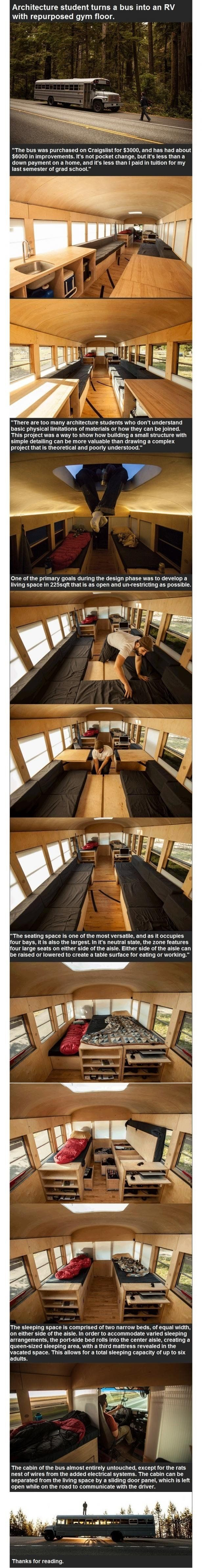 Bus converted into an RV