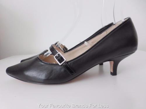 Airflex-Black-Leather-Pumps-Size-6