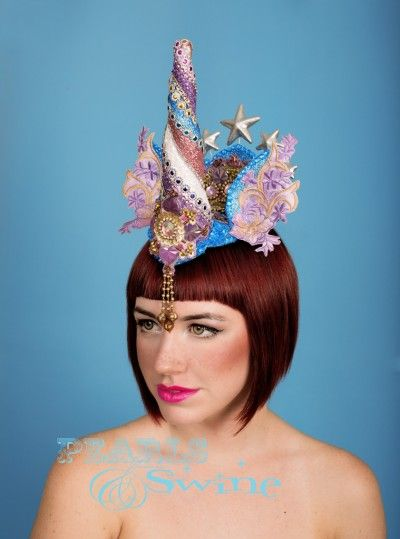 TwinkleShine – Glitter Unicorn Headdress Decadently #OTT #colourful, #glittered and #jewelled unicorn headdress, this is a one of a kind headpiece. Backed with leopard print satin, this attaches with a comb. A real statement #headpiece for #unicorn #lovers! http://www.pearlsandswine.com