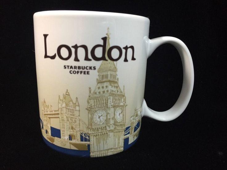 Starbucks London Mug v1 Big Ben Tower Bridge Icon Blue Coffee Cup New Parliament #Starbucks