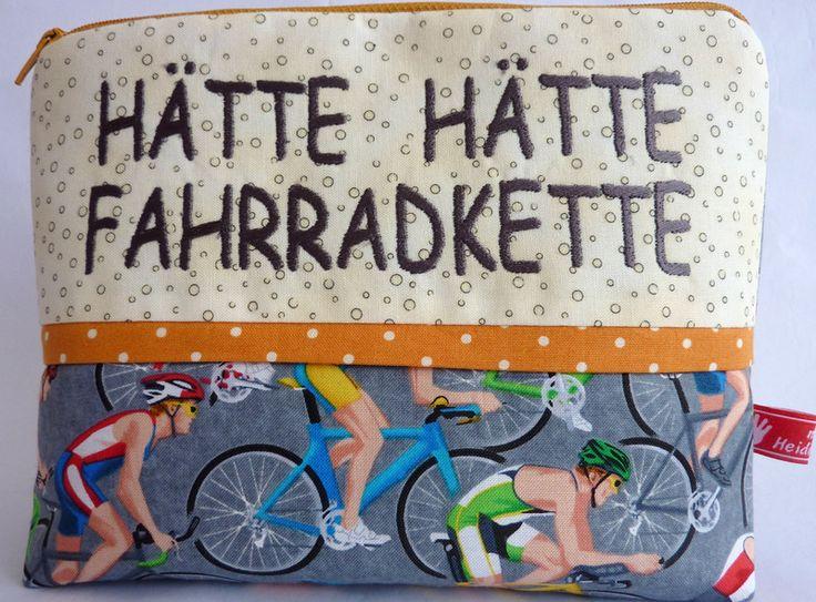 Kosmetiktasche, Hätte,Hätte Fahrradkette,  von Made by Heidi auf DaWanda.com