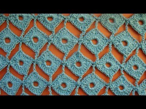 Узор вязания крючком Ромбы Crochet pattern 20