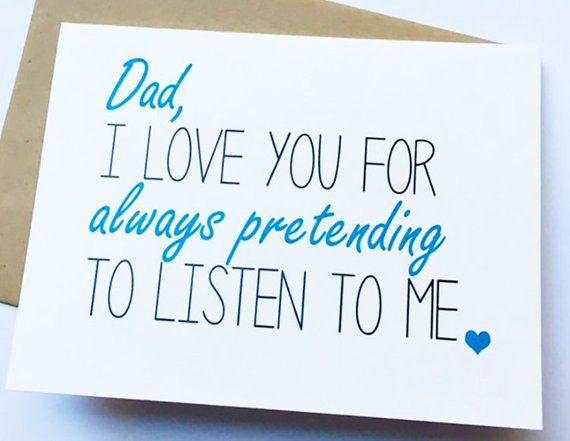 Dad Card - Dad from Daughter - Dad Birthday Card - Father\u0027s Day Card
