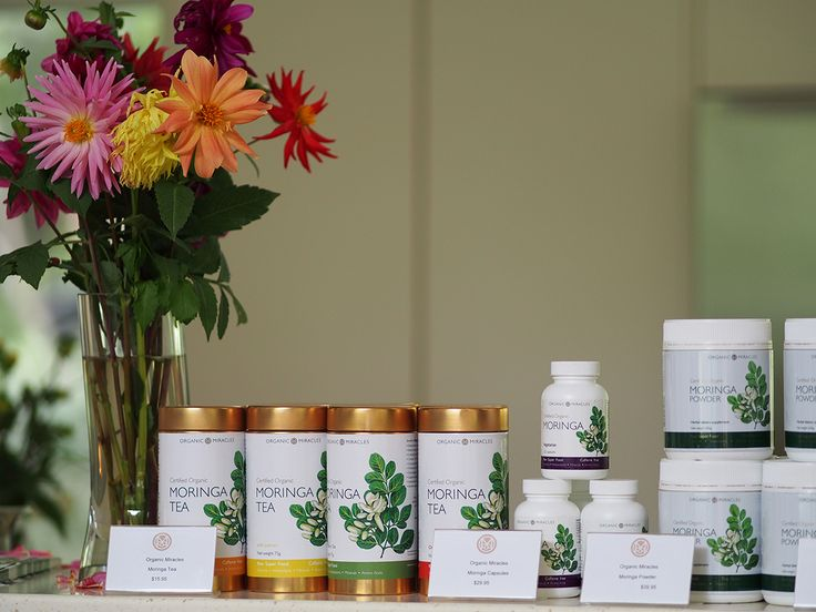 Organic Miracles moringa products at OM Cleanse retreat