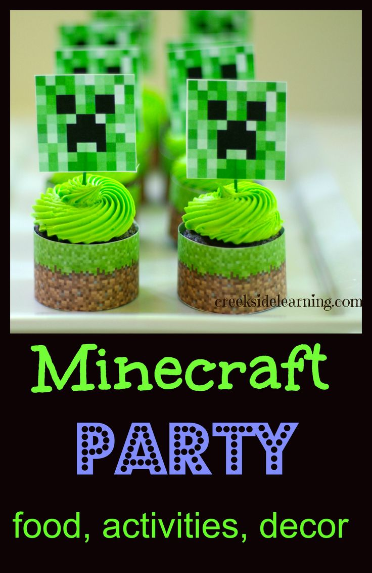 A round-up of ideas for food, activities and decor for a Minecraft themed party. | from Creekside Learning