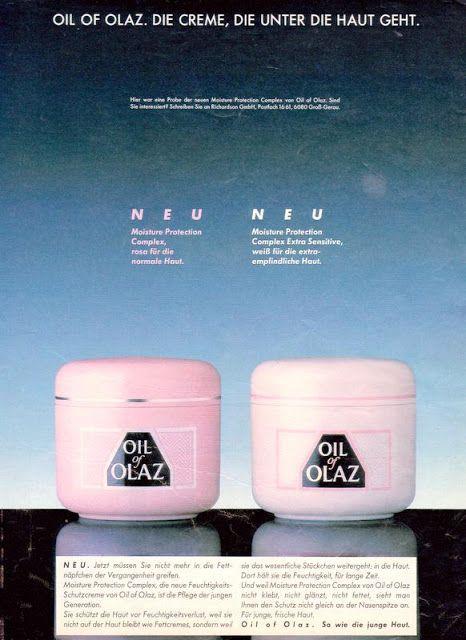 Oil of Olaz 1989 vintage ad.