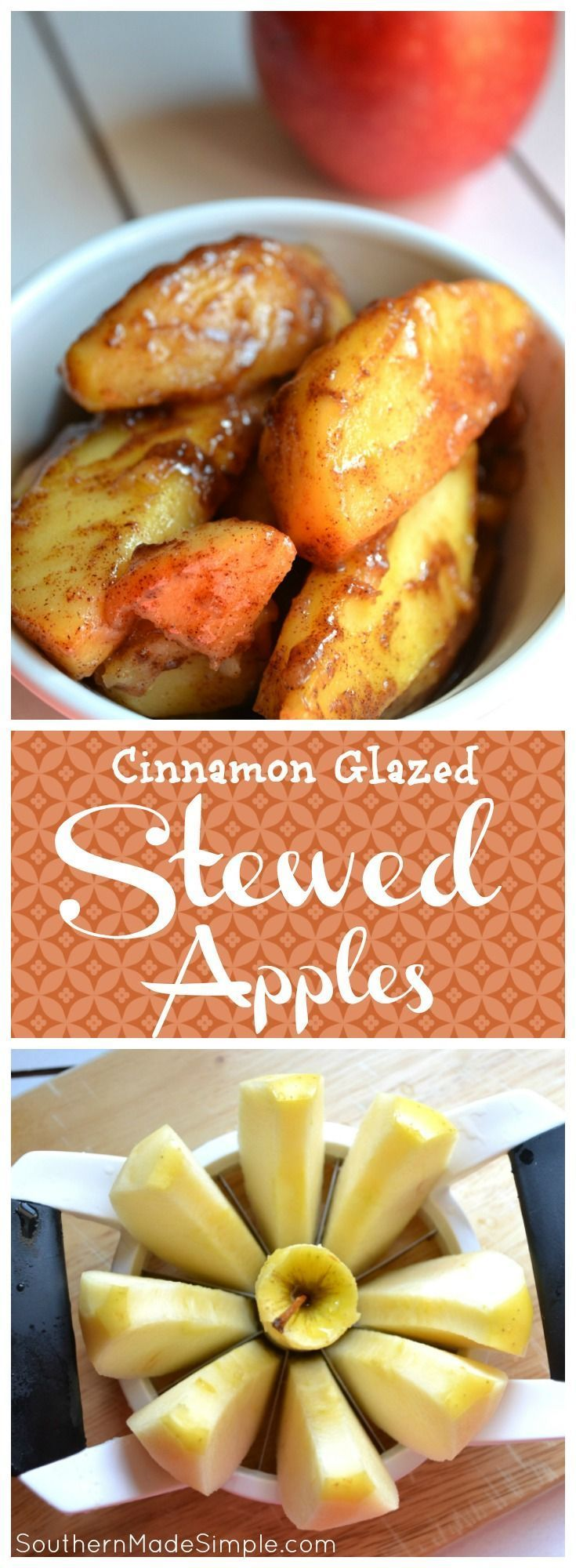 Stewed Cinnamon Apples - a delicious Southern side that is perfect for Fall!