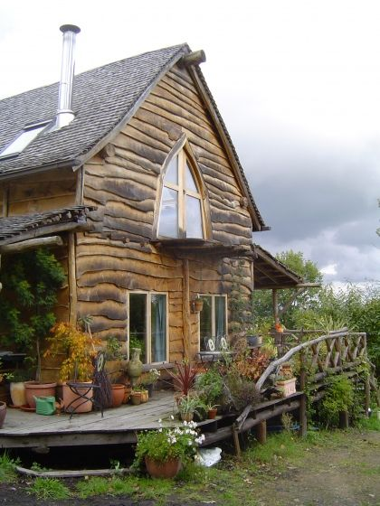 Ben Law's Eco House. Built almost entirely from his own woodland.Saw the building of this on tv - great. So well designed everything was so well thought out