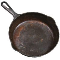 How to clean and reseason a cast-iron skillet that has just some rust on it. // Getting Rust Off a Cast-Iron Skillet from Good Housekeeping