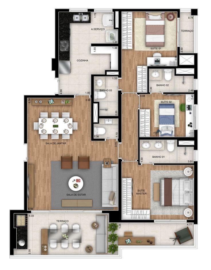 835 best Maison 3D images on Pinterest Floor plans, House floor