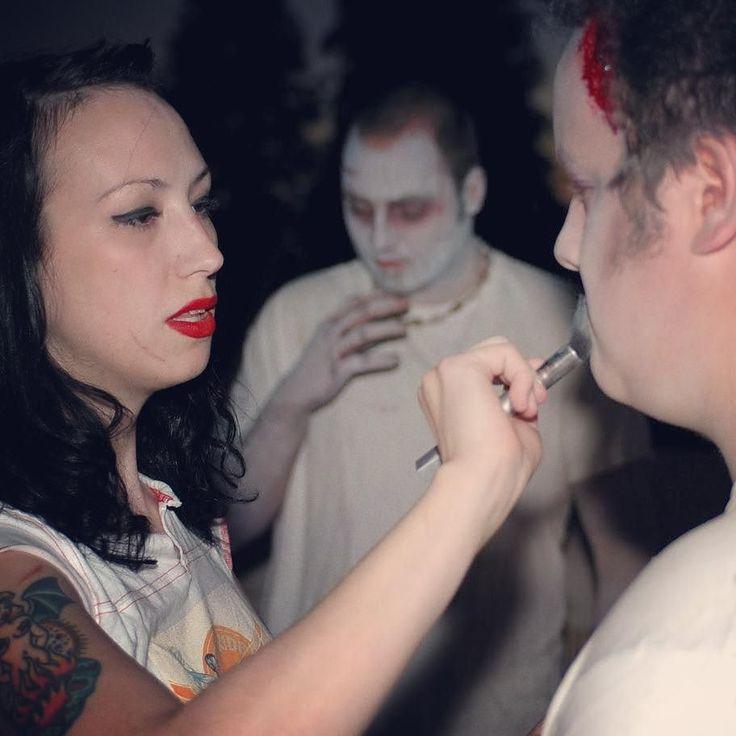 #HotRodGirlsSaveTheWorld  #ZombieMakeUp
