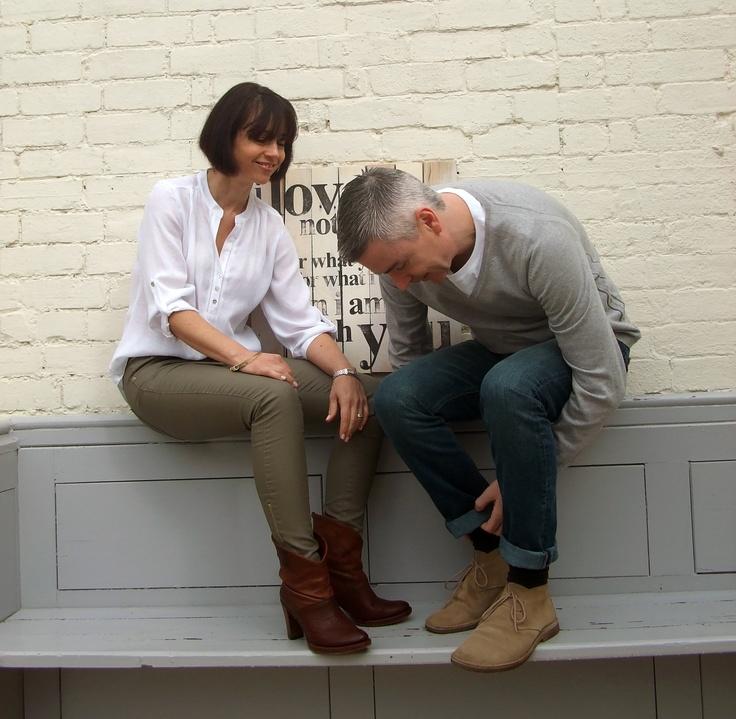 Hannah (Macleod) & Mark (Coulson) getting ready for a photo-shoot