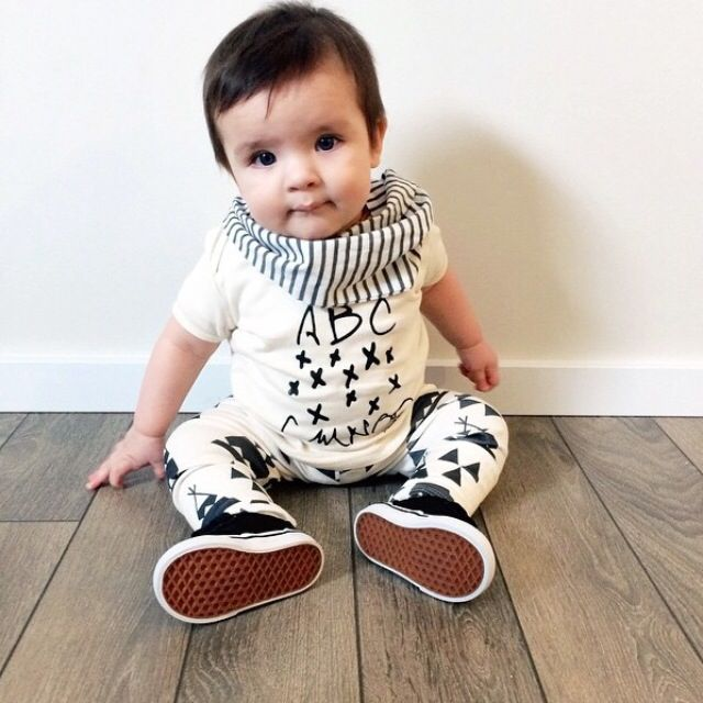 brikHOUSE Teepee Leggings. Perfect baby shower gift. Organic cotton and modern shapes make this a must have this season.