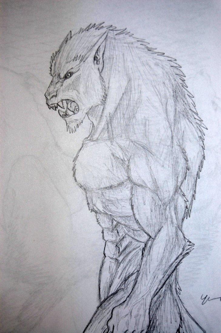 my werewolf drawing