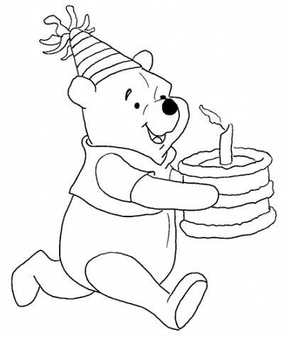 winnie the pooh coloring pages birthday: winnie the pooh coloring
