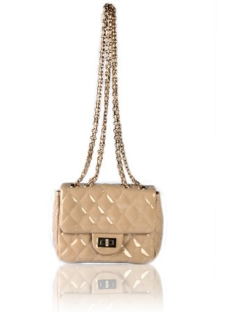 Trendy Hand Bags, Purse Online Shopping, Ladies Purse Online: Trendy Quilted Creme Sling