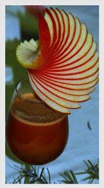 Coctail sans alcool à la pomme