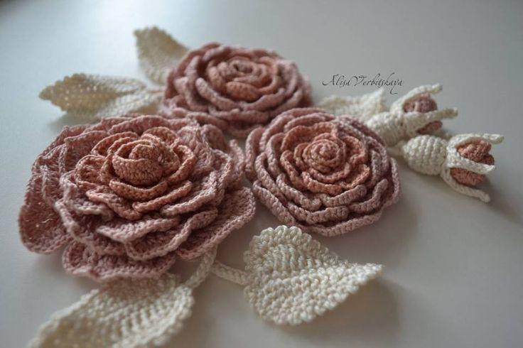 Mejores 588 imágenes de crochet FLOWERS en Pinterest | Flores de ...