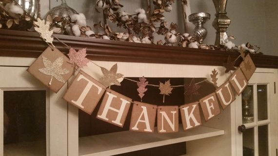 Thankful Banner Thanksgiving Banner Thanksgiving Garland