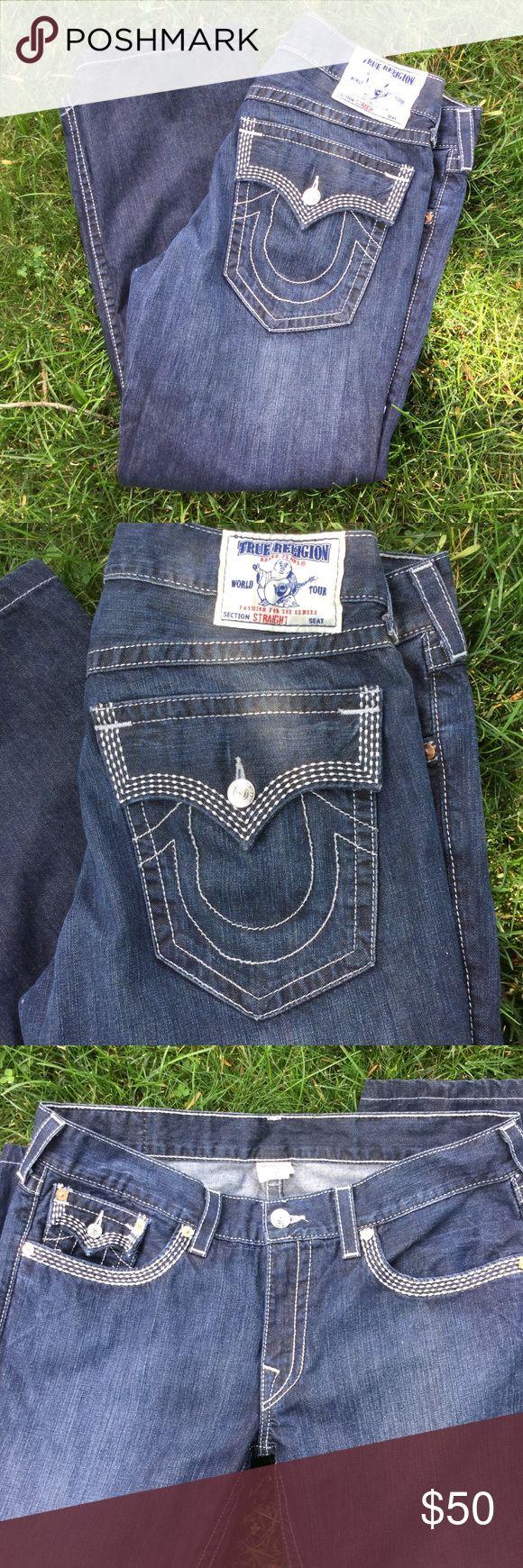 True Religion Joey Jeans Mint Condition True Religion Joey Straight Men's Jeans size 38. Back Button Flap Pockets. True Religion Jeans Straight